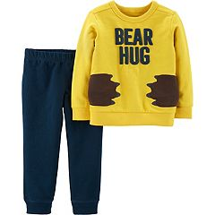 Toddler Boy Carter's 'Bear Hug' Pullover Top & Jogger Pants Set