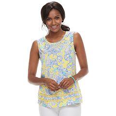 Women's Caribbean Joe Shell Print Tank