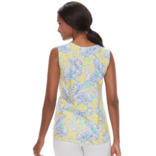 Women's Caribbean Joe Shell Print Tank