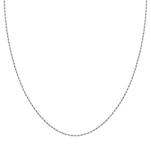 PRIMROSE Sterling Silver Twisted Box Chain Necklace