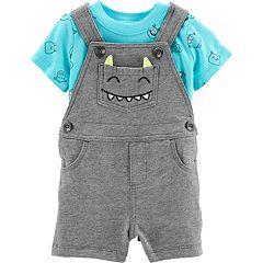 Baby Boy Carter's Monster Tee & Shortalls Set