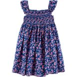 Toddler Girl Carter's Floral Smocked Dress