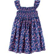 Toddler Girl Carter's Floral Smocked Dress