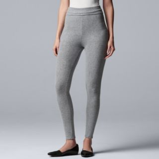 Women's Simply Vera Vera Wang Cozy Fold-Over Leggings
