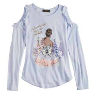 Girls 7-16 Disney D-Signed Cold-Shoulder Ballerina Top