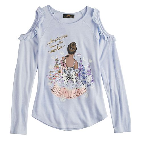 Girls 7-16 Disney D-Signed The Nutcracker and the Four Realms Cold-Shoulder Ballerina Top