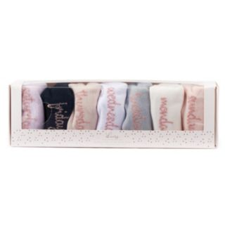 LC Lauren Conrad 7-Pack Days of the Week No-Show Socks