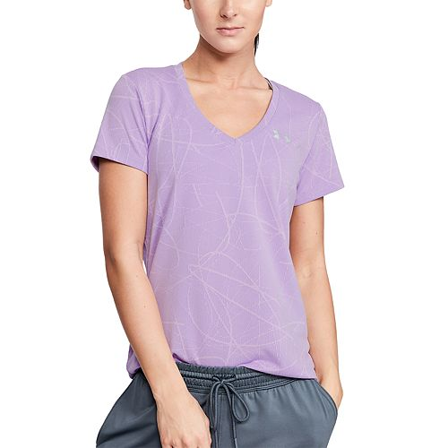 f339c73e Women's Under Armour Tech Short Sleeve Jacquard V-Neck Top