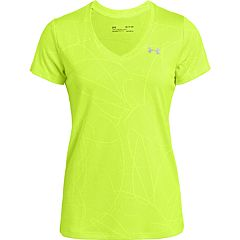 Women's Under Armour Tech Short Sleeve Jacquard V-Neck Top