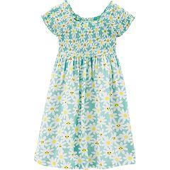 Toddler Girl Carter's Daisy Smocked Dress