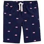 Toddler Boy Carter's American Flag Poplin Shorts
