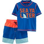 Toddler Boy Carter's 2-Piece Sea Rashguard Set