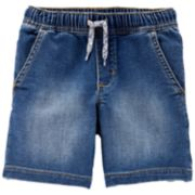 Toddler Boy Carter's Pull On Drawstring Denim Shorts