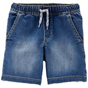 Toddler Boy Carter's Pull On Drawstring Denim Shorts