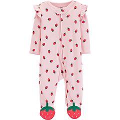 e78b4d866f09f Baby Girl Carter s Strawberry Ruffled Sleep   Play