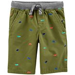 Toddler Boy Carter's Embroidered Dinosaur Shorts