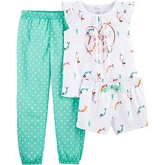 Girls 4-14 Carter's Top, Jogger Pants & Shorts Pajama Set