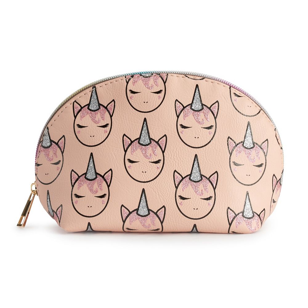 OMG Accessories Glitter Unicorn Dome Cosmetic Bag