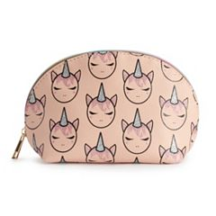 OMG Accessories Glitter Unicorn Dome Cosmetic Bag