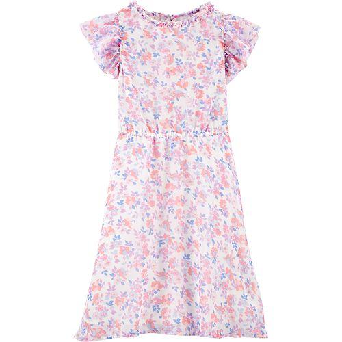 Girls 4-14 OshKosh B'gosh® Floral Ruffled Dress