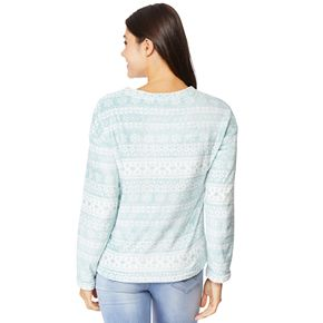 Juniors' WallFlower Plush Pullover Top