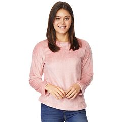 Juniors' Wallflower Fleece Pullover Top