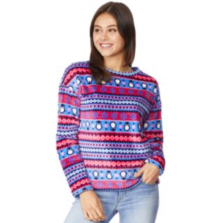 Juniors' WallFlower Plush Pullover Top