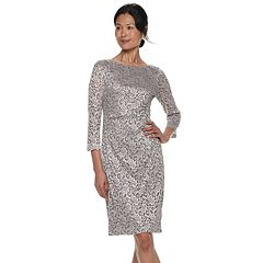 Petite Jessica Howard Lace Sheath Dress
