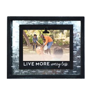 "New View ""Live More Worry Less"" 4"" x 6"" Frame"