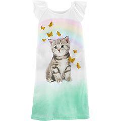 Girls 4-14 Carter's Kitten & Butterflies Dorm Nightgown