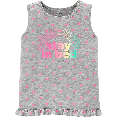 """Girls 4-14 Carter's """"Stay In Bed"""" Tank Top"""