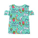 Girls 4-14 Carter's Unicorn Cat Cold-Shoulder Printed Top