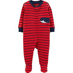 Baby Boy Carter's Striped Whale Sleep & Play