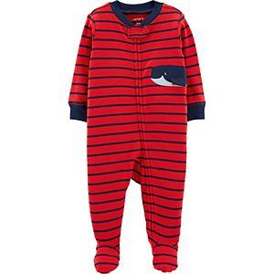 148a6ec37ae9 Baby Boy Carter s Crab Striped Footless One-Piece Pajamas