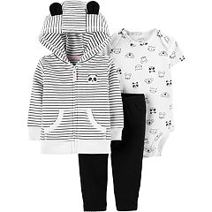 Baby Girl Carter's Panda Hoodie, Bodysuit & Pants Set