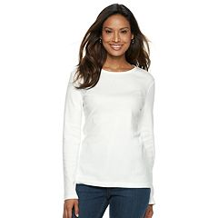 7883da3ed Women s Croft   Barrow® Classic Crewneck Tee. Bright White ...