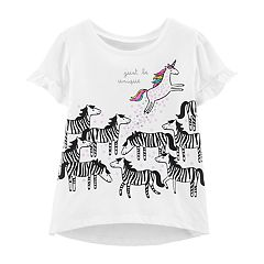 Toddler Girl Carter's Unicorn & Zebra Unique Graphic Tee