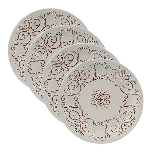 Certified International Terra Nova 4-piece Salad Plate Set