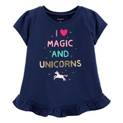 Baby Girl Carter's 'I Love Magic And Unicorns' Graphic Tee