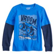 Boys 4-12 Jumping Beans® Thermal Mock Layer Graphic Tee