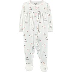 Baby Girl Carter's Bunny Rabbit Pointelle Sleep & Play