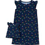 Girls 4-14 Carter's Printed Nightgown & Doll Nightgown Set