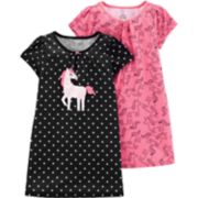 Girls 4-14 Carter's 2-pack Polka-Dot Dorm Nightgowns
