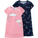 Girls 4-14 Carter's 2-pack Dorm Nightgowns