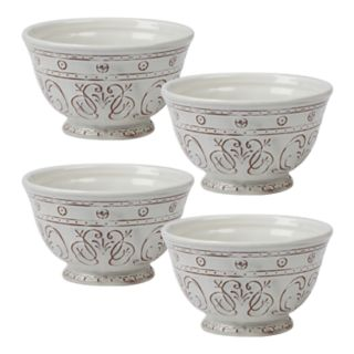 Certified International Terra Nova 4-piece Ice Cream Bowl Set
