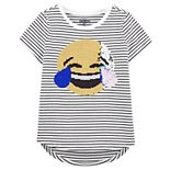 Girls 4-12 OshKosh B'gosh® Flip-Sequin Smiley Striped Tee