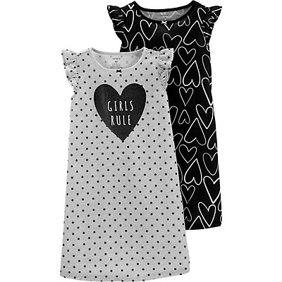 Girls 4-14 Carter's 2-pack Printed Dorm Nightgowns