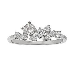 PRIMROSE Sterling Silver Cubic Zirconia Cluster Ring
