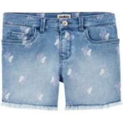 Girls 4-14 OshKosh B'gosh® Unicorn Frayed-Hem Denim Shorts