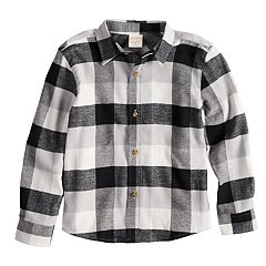 Boys 4-12 Jumping Beans® Flannel Plaid Button Down Shirt